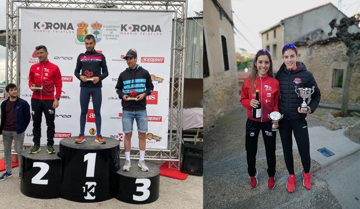 Sara García y Rubén Andrés, segundos en Fuentemolinos y Fuente el Saz de Jarama
