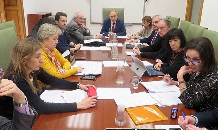 Una imagen de la reunión de este jueves. /UVa