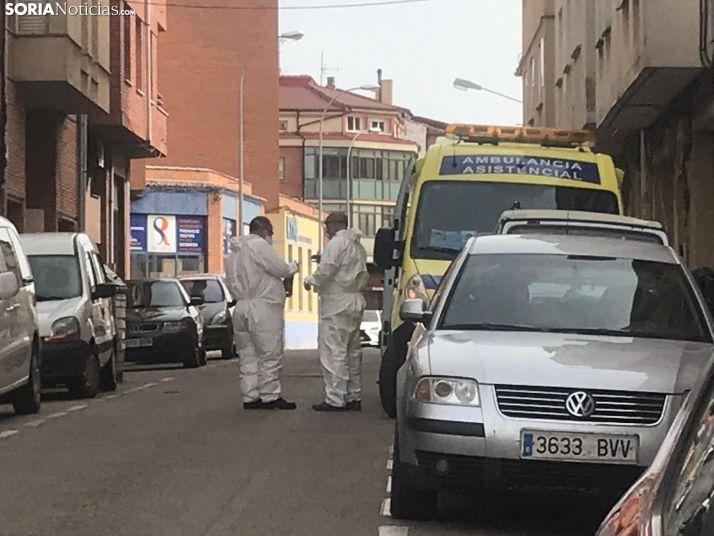 Intervención de los servicios de emergencias en Soria capital.