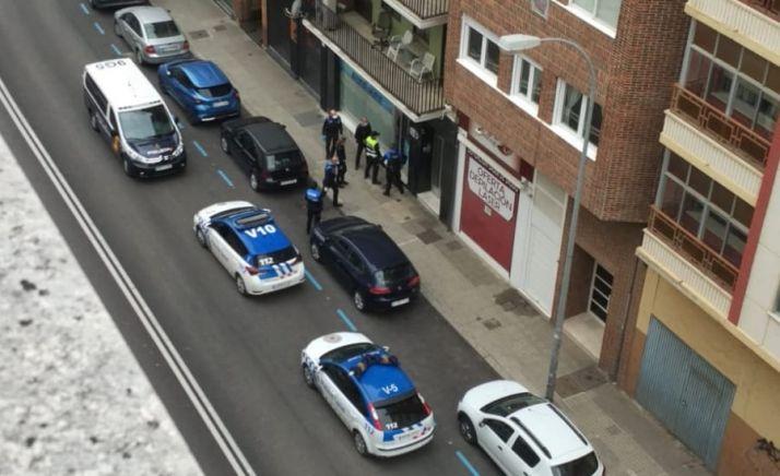 Imagen del dispositivo en la calle San Benito.
