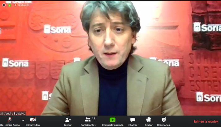 Carlos Martínez, en rueda de prensa telemática con los periodistas de Soria
