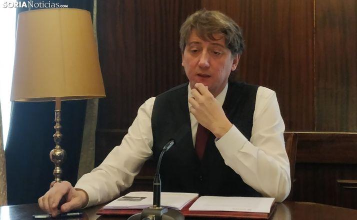 Carlos Martínez hoy en rueda de prensa. SN