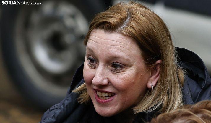 Isabel Blanco, consejera de Servicios Sociales, en una visita a Soria en enero. /SN