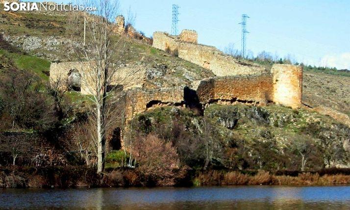 Parte de la muralla de Soria que continúa en pie.