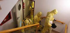 Foto 3 - La UME sigue infatigable en sus labores de desinfección por la provincia