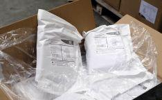Imágenes del cargamento del vuelo procedente de China.