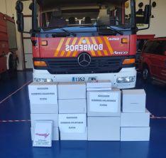 Material donado por la asociación de Bomberos de Ólvega.