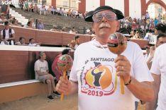 Un sanjuanero lo da todo desde primera hora del Vierne de Toros. Año 2019. Foto: María Ferrer