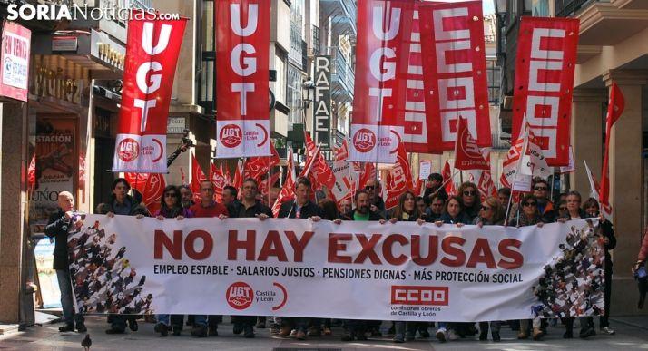 Manifestación del 1 de Mayo en Soria en una imagen de archivo.