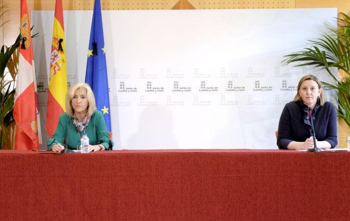 Casado y Blanco durante la rueda de prensa.