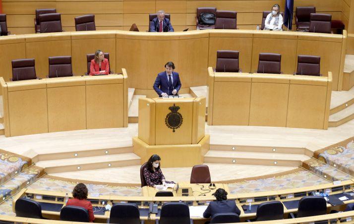 Mañueco en la Comisión General de las Comunidades Autónomas.