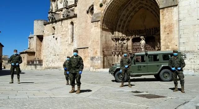 Foto 2 - Presencia del Regimiento de Ingenieros en El Burgo
