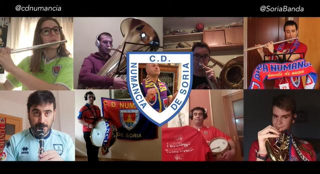 Instante del vídeo de la Banda de Música.