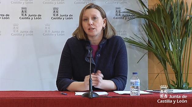 Isabel Blanco durante la rueda de prensa.