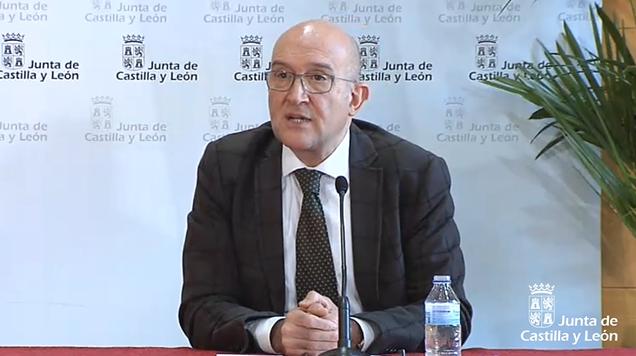 Julio Carnero durante la rueda de prensa.