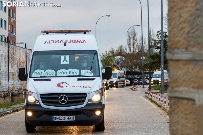 Imagen de la caravana de agradecimiento soriana. /Viksar Fotografía.