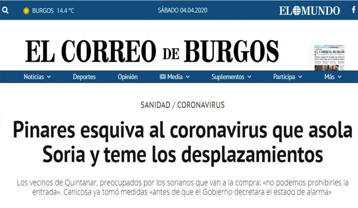 La información de El Correo de Burgos.