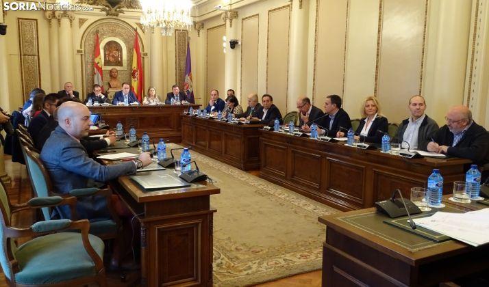El Pleno de la institución provincial en una imagen de archivo.