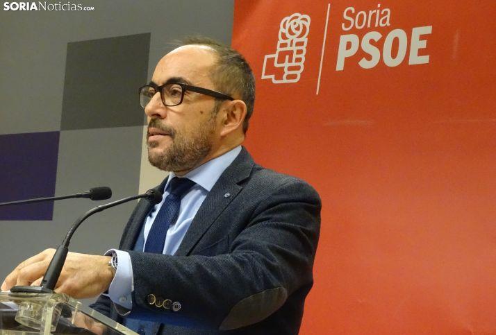 Luis Rey, portavoz de los diputados socialistas, en una imagen de archivo.