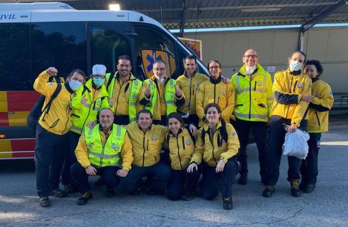 Imagen de los sanitarios del Samur antes del viaje a Soria.