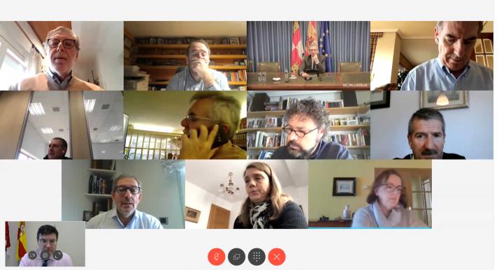 Imagen de la reunión por videoconferencia.