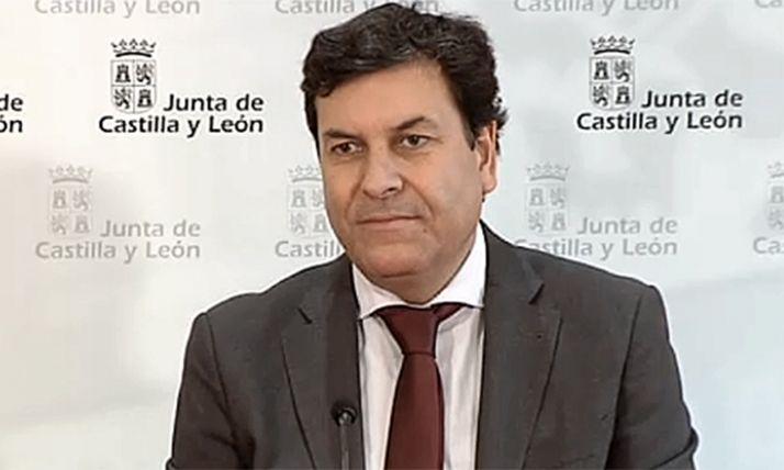 Carlos Fernández Carriedo, consejero de Economía y Hacienda, en comparecencia de prensa este miércoles. /Jta.