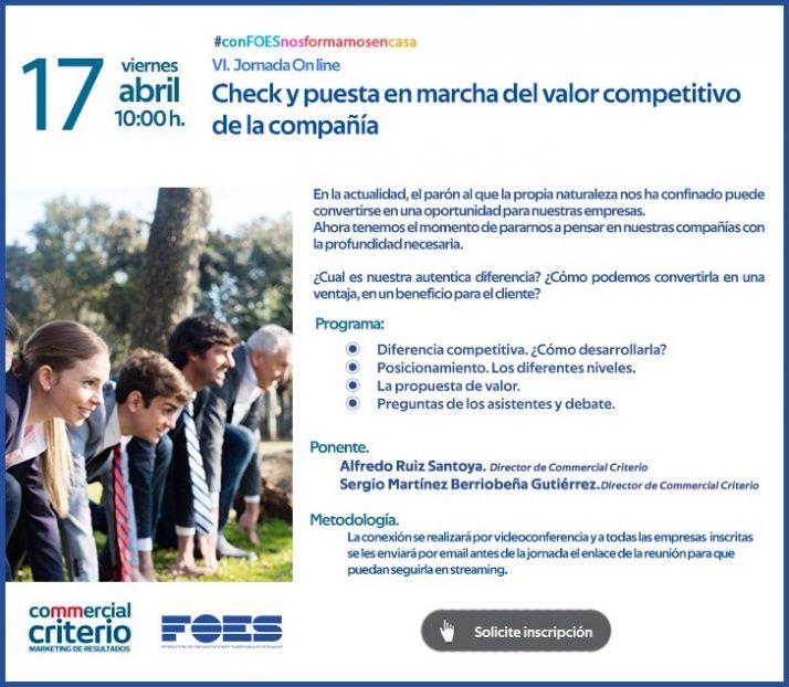 Foto 1 - Jornada sobre el valor competitivo de la empresa en FOES