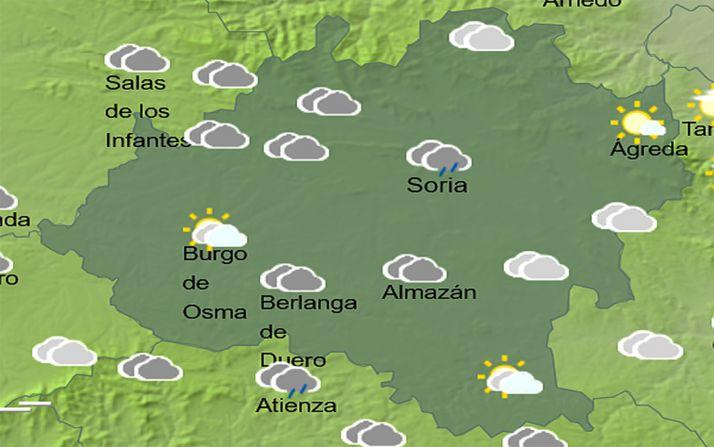 El cielo de la provincia a las 16:00 horas. /AEMET
