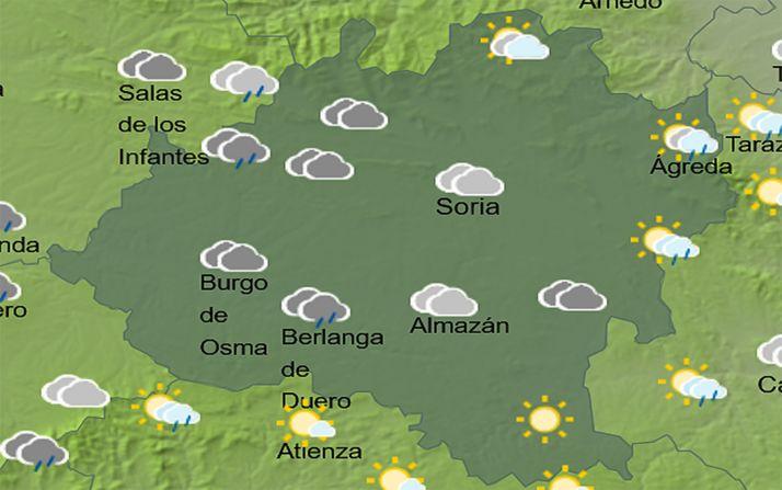 Pronóstico para las 16:00 horas. /AEMET