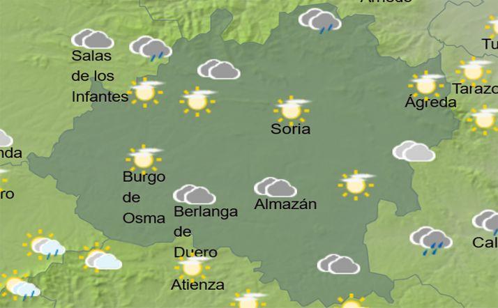 El cielo en la provincia a las 16:00 horas. /AEMET