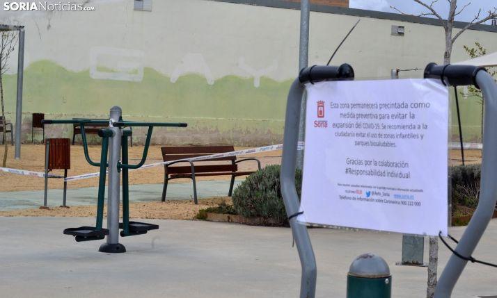 Imagen del parque para ejercicios físicos cerrado en Santa Bárbara. /SN