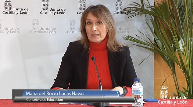 Rocío Lucas durante la rueda de prensa.