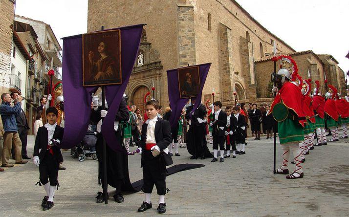 Una imagen del Viernes Santo en Ágreda, de Interés Turístico Regional. /CVC