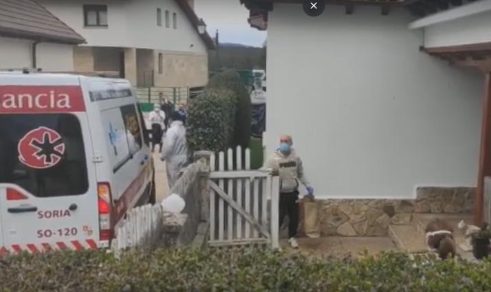 Detalle de la llegada de Marcelo Herrero a su hogar.