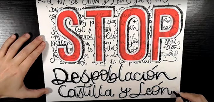 Detalle del vídeo de la agrupación.