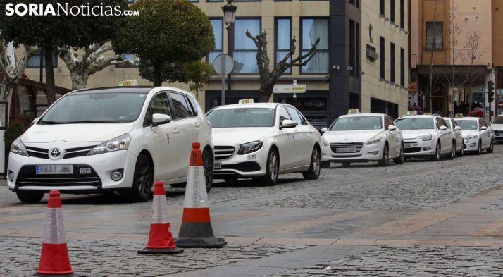 Foto 1 - El sector del taxi en Soria pide ayuda