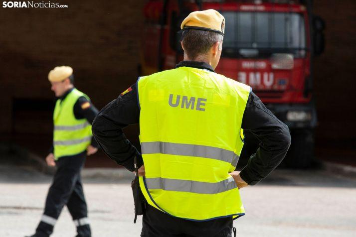 La UME no descansa y ya desinfecta varias localidades sorianas