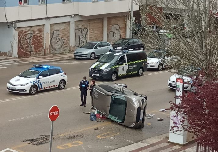 Accidente en la Avenida de Valladolid.