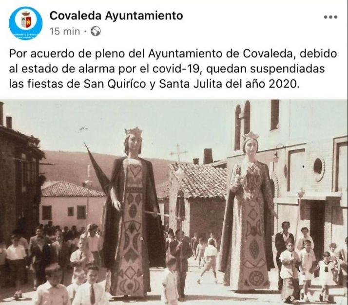 Anuncio del Ayuntamiento de Covaleda.