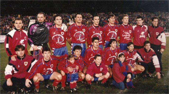Once de aquel Numanica de la Copa del Rey del 96 en el partido ante el Barça.
