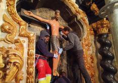 Retablo de la capilla del Santo Cristo del Milagro.