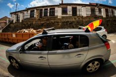 Foto 8 - En imágenes : Un centenar de vehículos secunda en Soria la protesta de Vox contra Sánchez