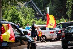 Foto 6 - En imágenes : Un centenar de vehículos secunda en Soria la protesta de Vox contra Sánchez