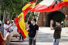 Foto 3 - En imágenes : Un centenar de vehículos secunda en Soria la protesta de Vox contra Sánchez