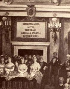 El apellido Manzanares figuró en el Congreso de los Diputados hasta el franquismo, tal y como figura un grabado de época.