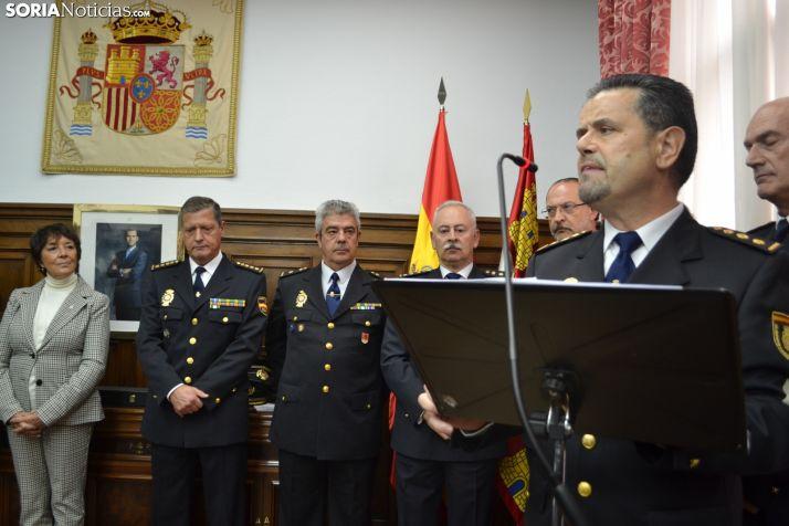 Honorio Pérez Pablos en su toma de posesión en Soria.