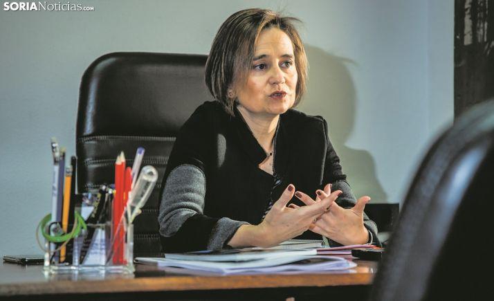 Elia Jiménez, alcaldesa de Ólvega, en una imagen de archivo. /SN