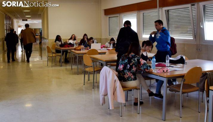 Interior del campus Duques de Soria.