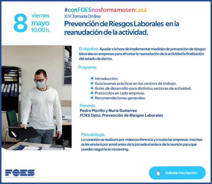 Foto 2 - Preservar la seguridad a empresarios y autónomos en la reapertura, nueva jornada de FOES