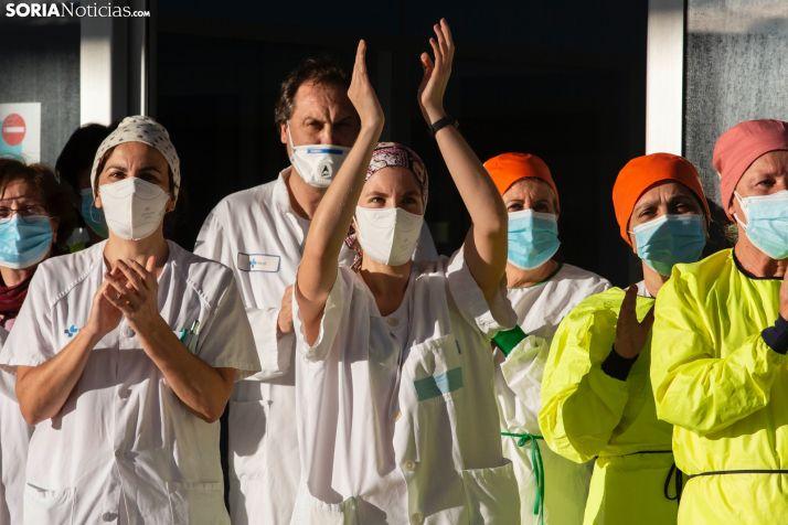 Los sanitarios agradecen el apoyo de los sorianos. /María Ferrer